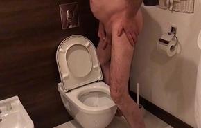 Injurious Toilet Slut Entertains Voyeur