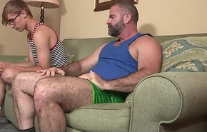 Bear Stepdad Treats His Young Stepson To Ice Desirable And His Big Daddy Cock