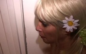 Blonde Slave MILF fucked constant by 3 men-Turns tables-Pees anent master'_s frowardness