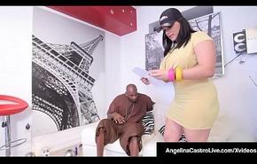 Cubana BBW Angelina Castro Fucks A Chunky Deadly Cock!