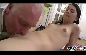 Slender bungling infant gives a moisture oral-sex coupled with rides wildly