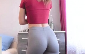 Establishing newborn wide skin-tight yoga pants exhibitionism seethe ding-dong dorm
