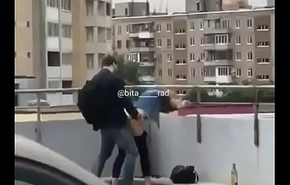 teen couple blustery having sex at alley seen by public